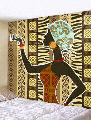 African Woman Print Wall Hanging Art Tapestry -