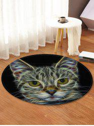Cat Pattern Anti-skid Round Floor Rug -
