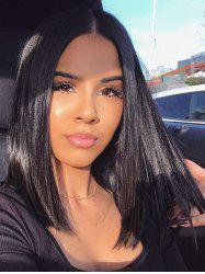 Medium Length Center Parting Straight Lace Front Human Hair Wig -