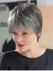 Short Inclined Bang Straight Colormix Synthetic Wig -