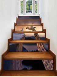 Giraffe Print Decorative Stair Stickers -