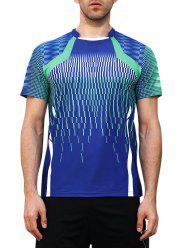 Faster Moisture Absorption Geometric Print Gym Tee -