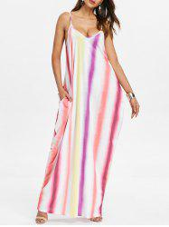 Striped Color Block Maxi Dress -