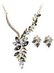 Vintage Rhinestone Faux Gem Decorative Wedding Jewelry Suit -