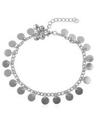 Bell Decoration Disc Charm Anklet -