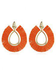 Unique Alloy Geometric Fringed Earrings -