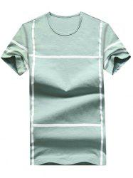 Cross Line Print Casual T-shirt -
