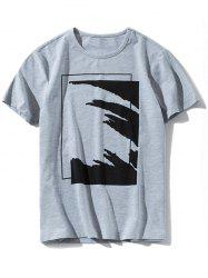 Casual Round Neck Graphic T-shirt -