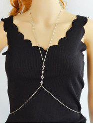 Rhinestone Thin Cross Beach Body Chain -