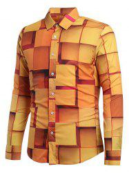 3D Geometric Printed Casual Shirt -