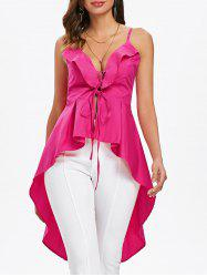 Criss Cross High Low Tank Top -