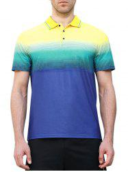 Horizontal Line Print Fast Dry Breathable Activewear T-shirt -