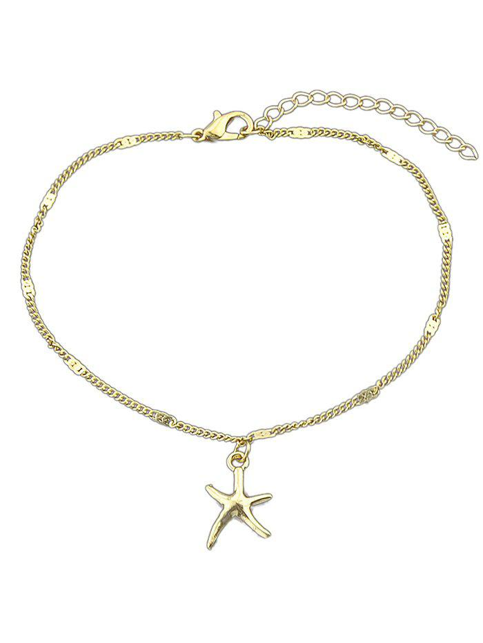 Trendy Starfish Designed Chain Anklet