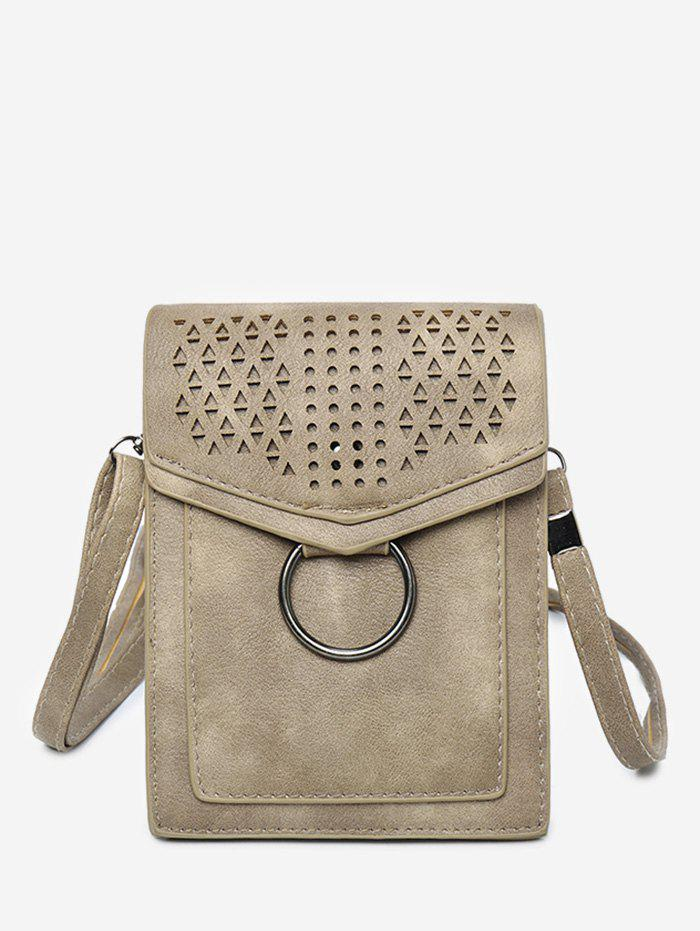 Fancy Flap PU Leather Hollow Out Casual Cellphone Bag