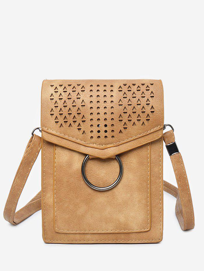 Affordable Flap PU Leather Hollow Out Casual Cellphone Bag