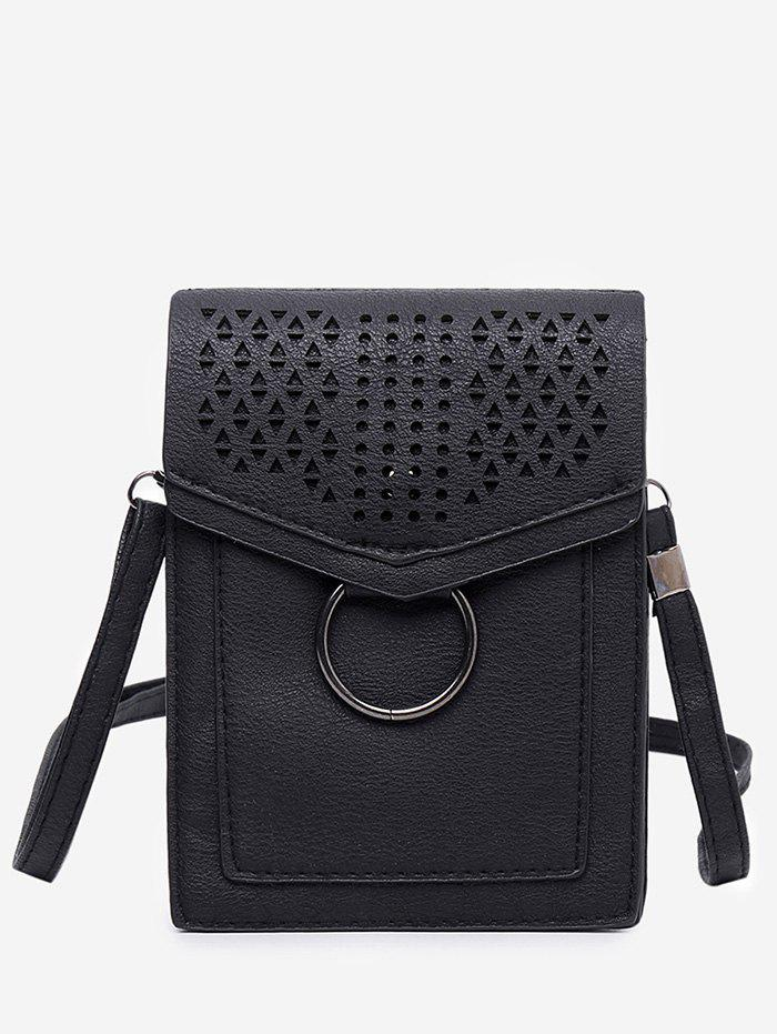 Chic Flap PU Leather Hollow Out Casual Cellphone Bag