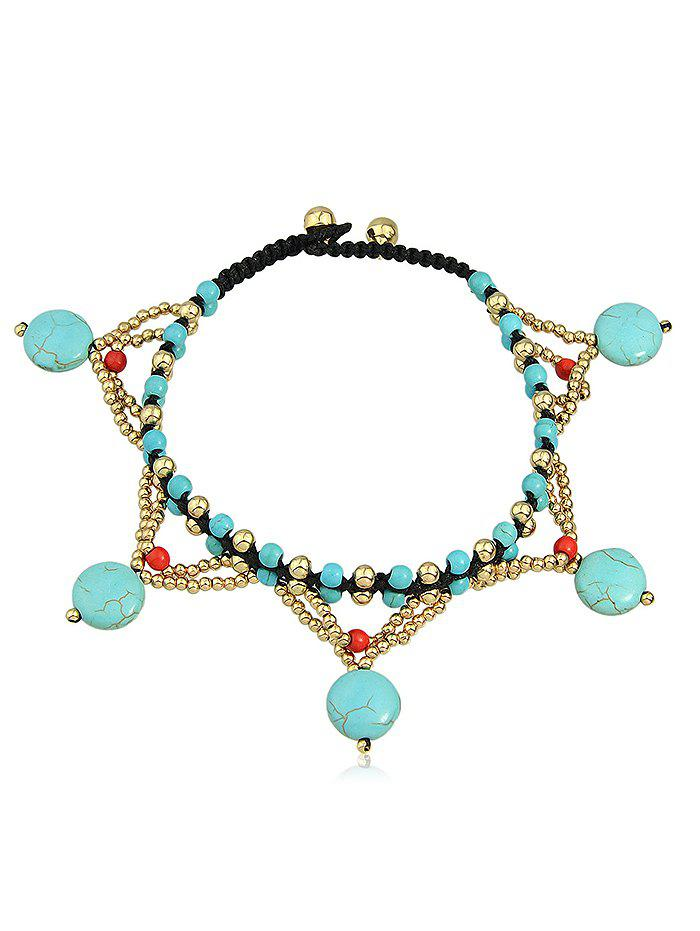 Chic Bohemian Artificial Gemstone Joint Beads Anklet