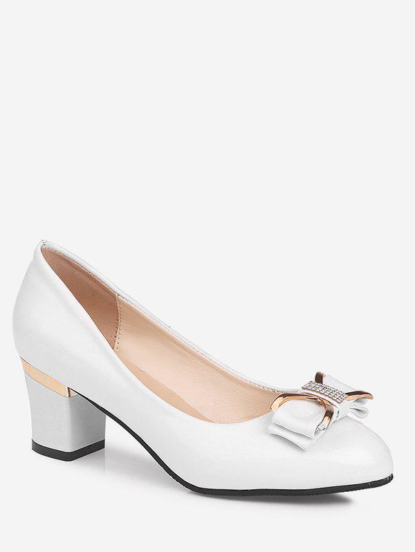 Store Plus Size Block Heel Bowknot Casual Party Pumps