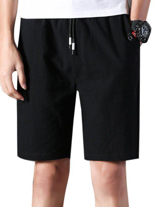 Buy Applique Elastic Waist Casual Shorts
