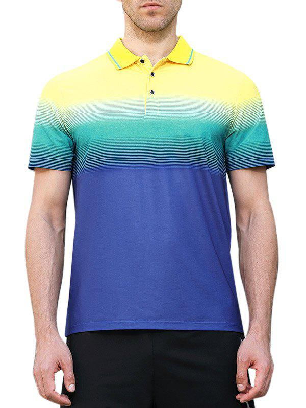 Shop Horizontal Line Print Fast Dry Breathable Activewear T-shirt