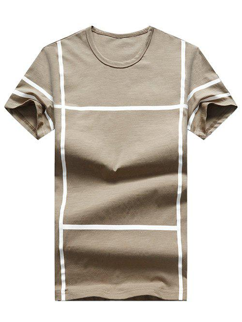 Affordable Cross Line Print Casual T-shirt