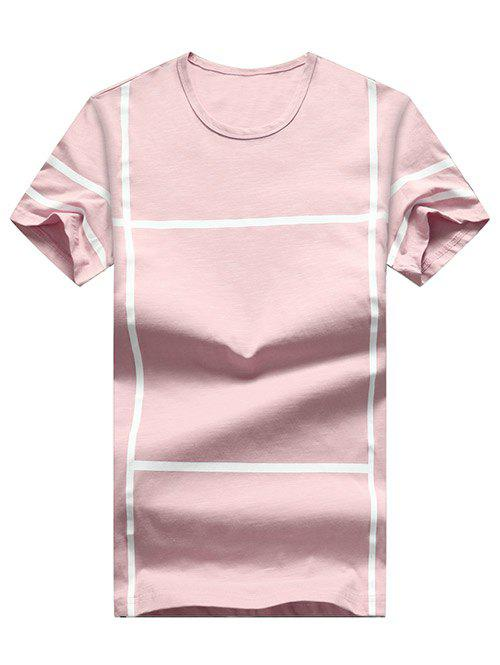 Discount Cross Line Print Casual T-shirt