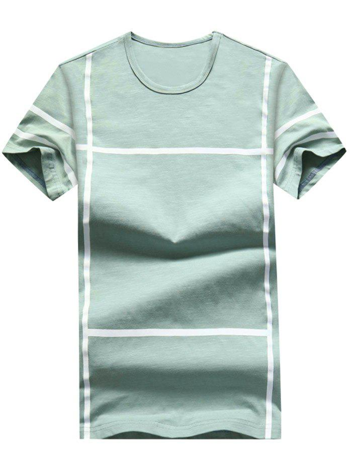 Trendy Cross Line Print Casual T-shirt