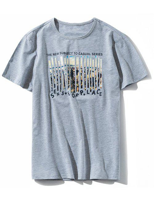 Buy Letter Print Round Neck Graphic T-shirt