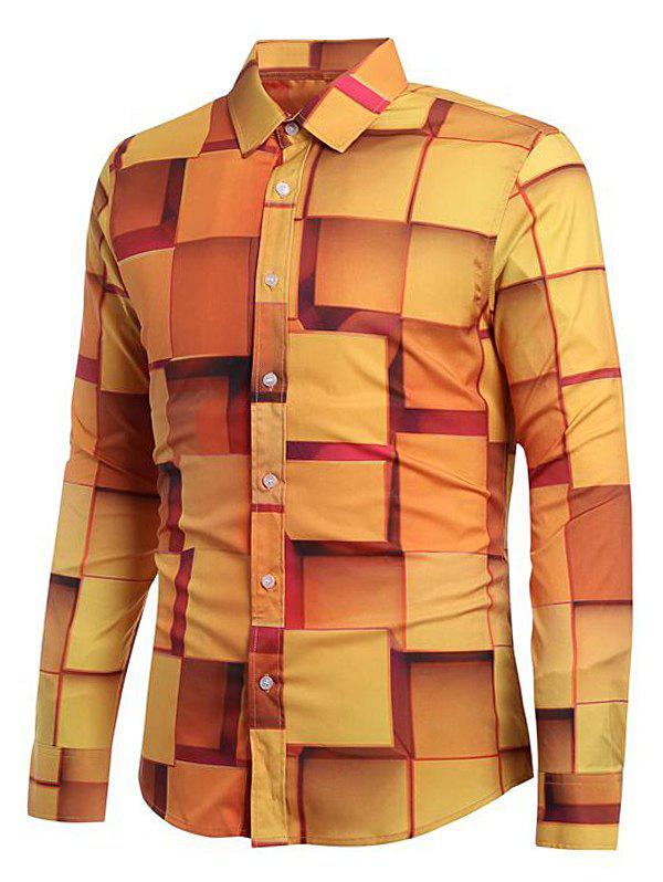 Sale 3D Geometric Printed Casual Shirt