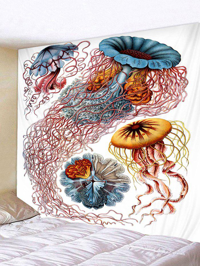 Fancy Wall Hanging Art Jellyfish Print Tapestry