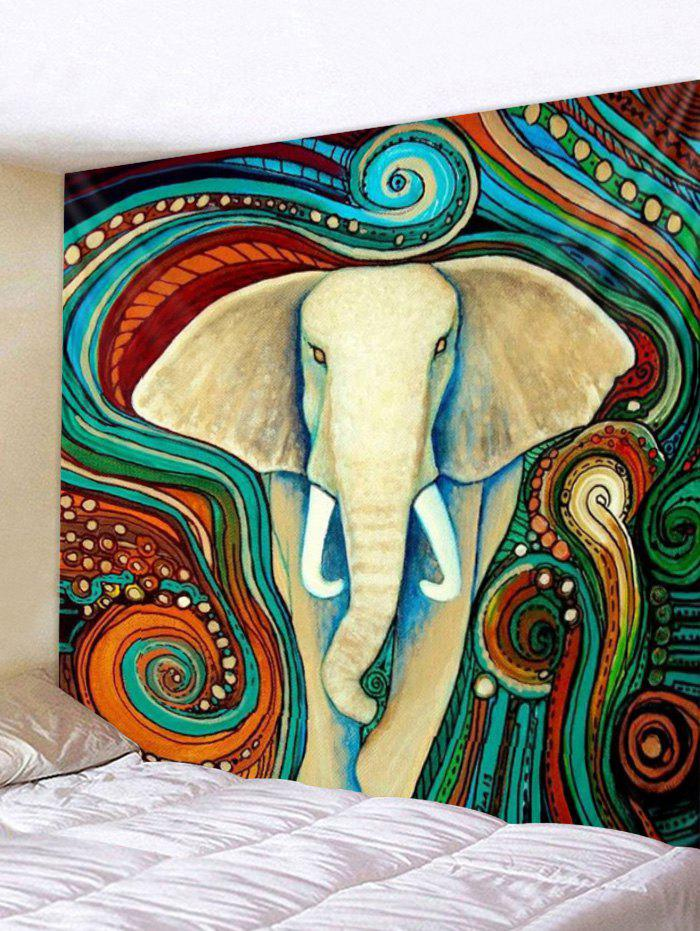 Affordable Bohemian Elephant Print Wall Hanging Decor Tapestry
