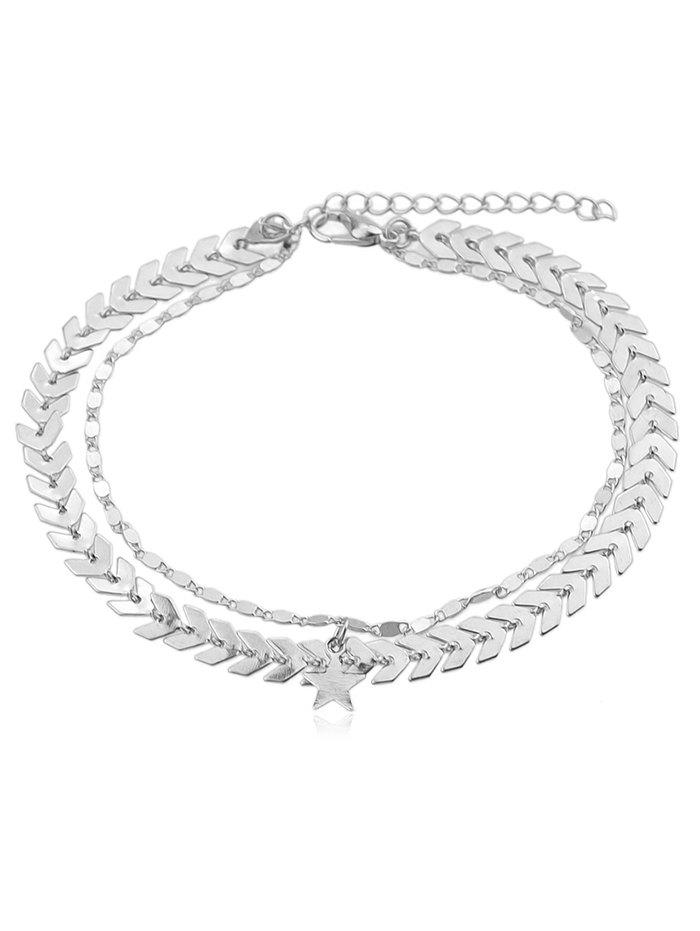 Shops Layered Star Arrow Chain Anklet