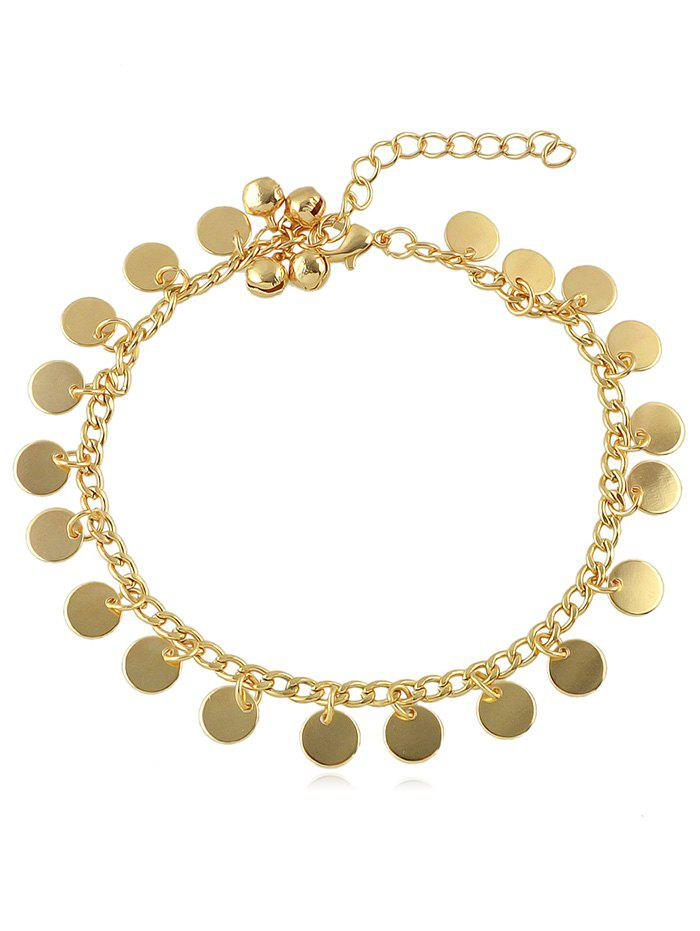 Discount Bell Decoration Disc Charm Anklet