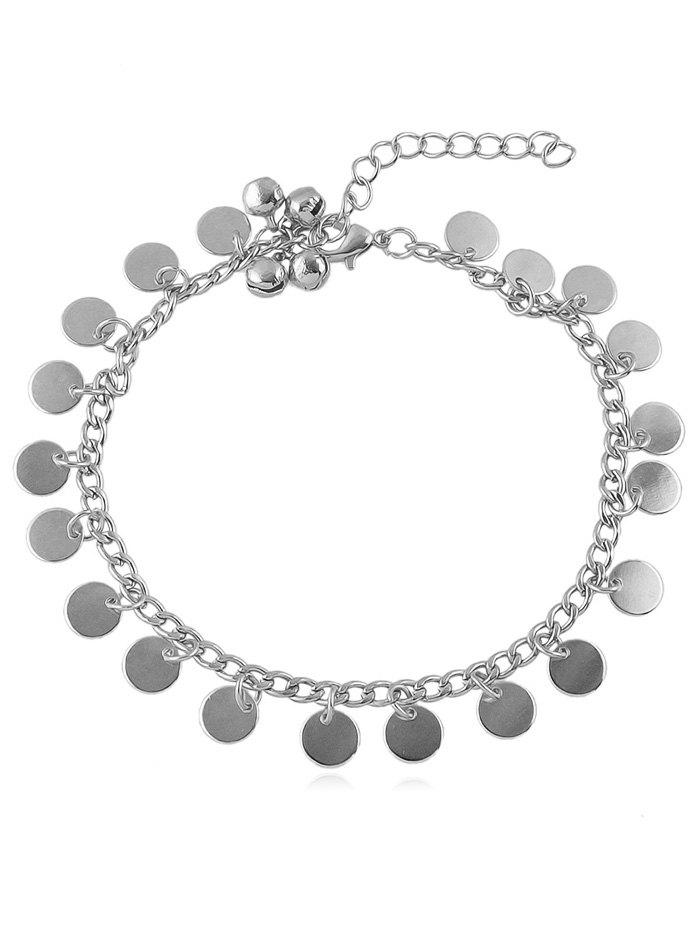 Shop Bell Decoration Disc Charm Anklet