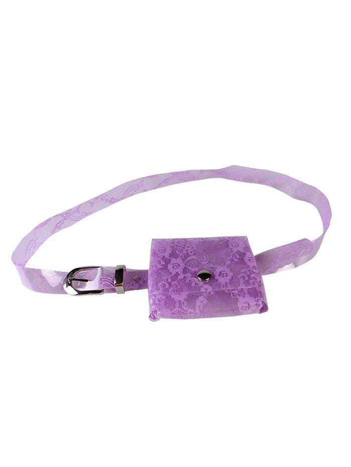 Outfit Unique Fanny Pack Floral Transparent PVC Belt