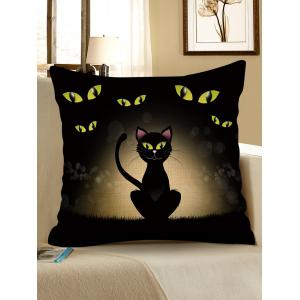 Halloween Cat Printed Pillow Case -