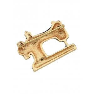 Rhinestone Sewing Machine Shaped Brooch -