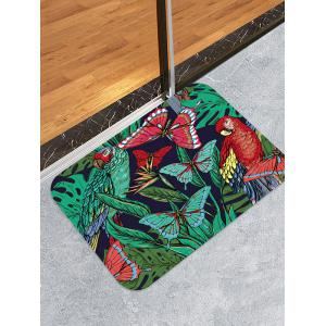 Butterfly and Bird Pattern Water Absorption Area Rug -