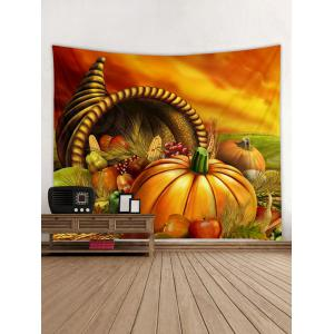 Pumpkins Vegetables Print Wall Tapestry Hanging Decor -