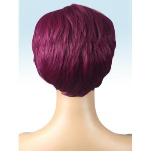 Short Side Bang Layer Straight Synthetic Wig -