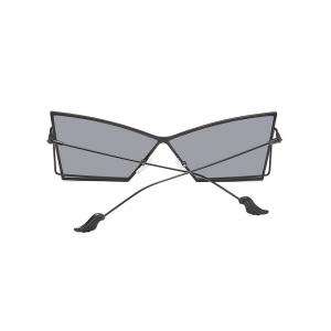 Anti Fatigue Hollow Out Frame Irregular Lens Sunglasses -
