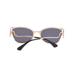 Unique Half Frame Bent Legs Sunglasses -