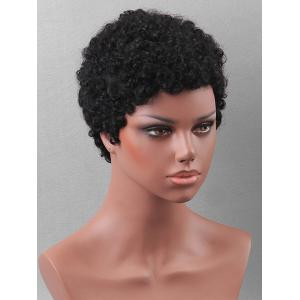 Short Length Curly Pixie Cut Human Hair Wig -