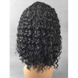 Medium Center Parting Curly Synthetic Wig -