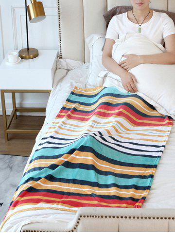 Latest Striped Print Flannel Soft Bed Blanket