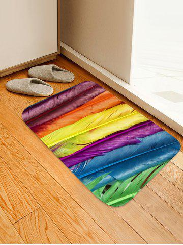 Shops Colorful Feathers Pattern Water Absorption Area Rug