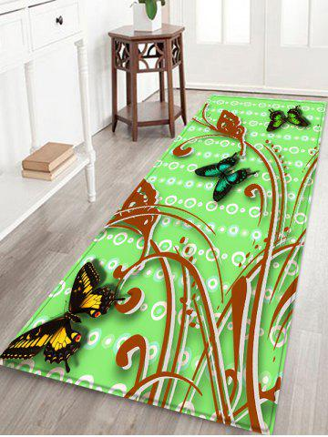 Affordable Butterflies Pattern Water Absorption Area Rug