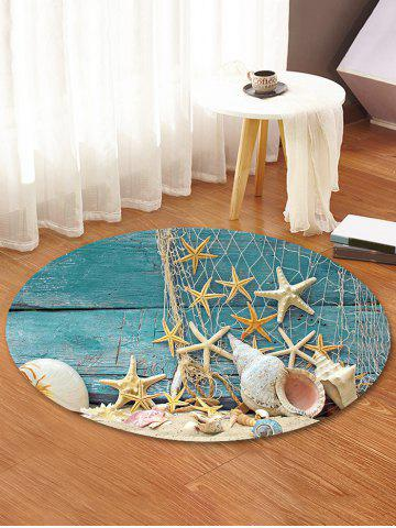 Affordable Beach Starfish Pattern Anti-skid Round Floor Rug