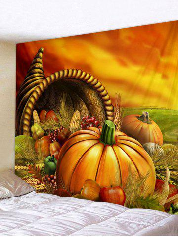 Discount Pumpkins Vegetables Print Wall Tapestry Hanging Decor