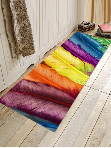 Online Colorful Feathers Pattern Water Absorption Area Rug